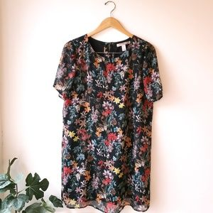 F21 Contemporary Spring Floral Butterfly Dress